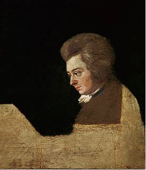 Mozart entire painting by Joseph Lange